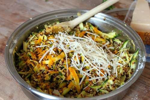 Quinoa courgette, Parmesan and turmeric