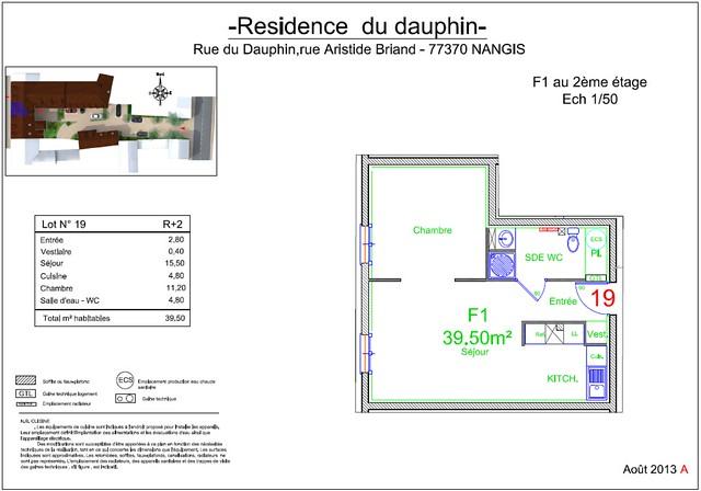 Résidence du Dauphin - Plan de vente - Lot n°19
