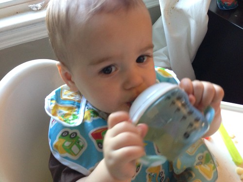 Elliott with Sippy Cup