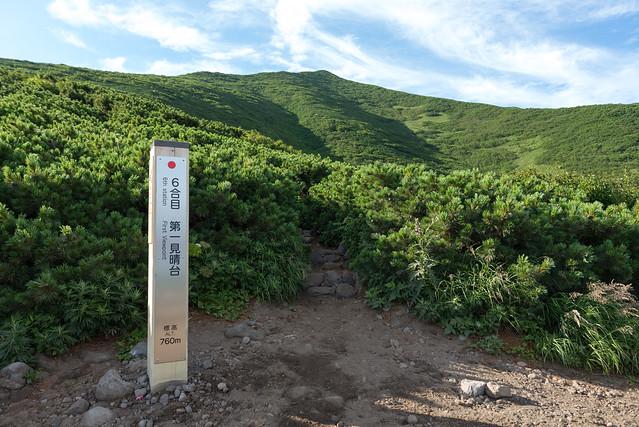 利尻山登山道 6合目