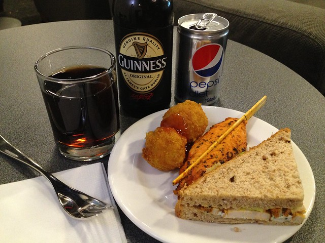 Preboarding free food frenzy - Star Alliance Gold Lounge