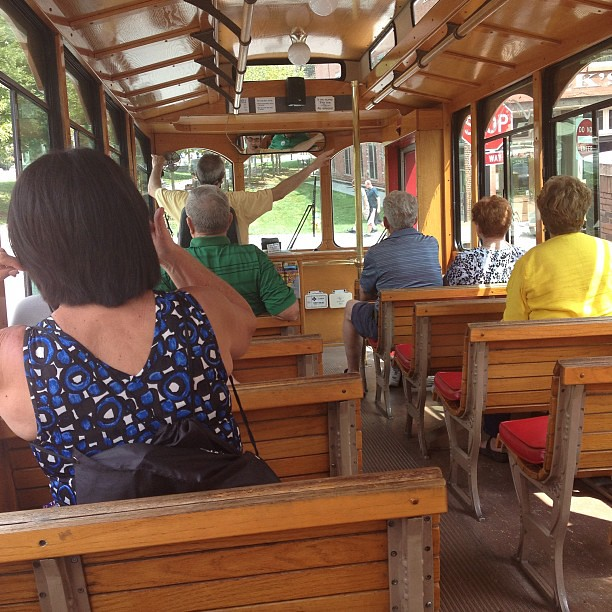 I may or may not be on a trolley tour. #epicroadtrip