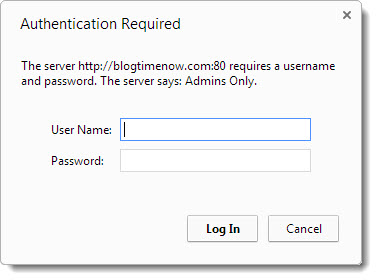 How to password protect your wordpress admin directory