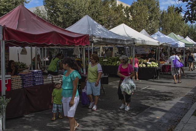 Downey Farmer's Market stalls