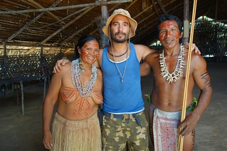 Tribo indigena na Selva da Amazonia no Brasil