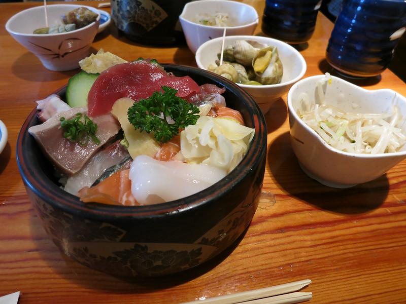 Japanese lunch at Yamayu Santatsu.