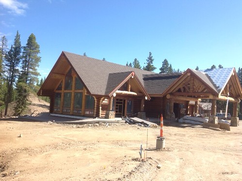 Breckenridge Nordic Center log lodge under construction