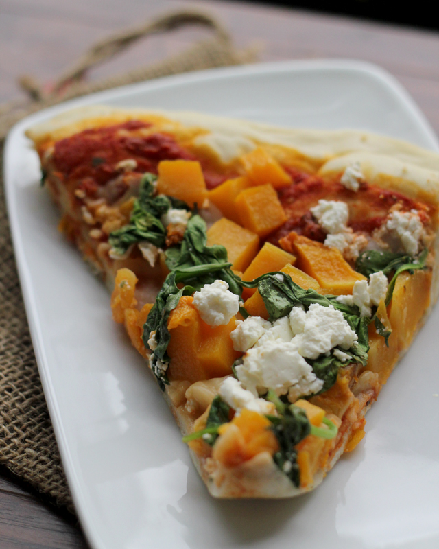 Butternut Squash, Spinach and Feta Pizza | Joanne Eats ...