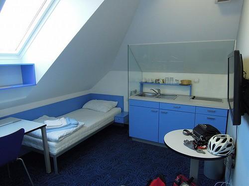 ユースホステルの部屋