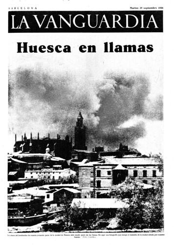 Huesca en llamas, La Vanguardia 29 de septiembre de 1936, foto: Agustí Centelles i Ossó by Octavi Centelles
