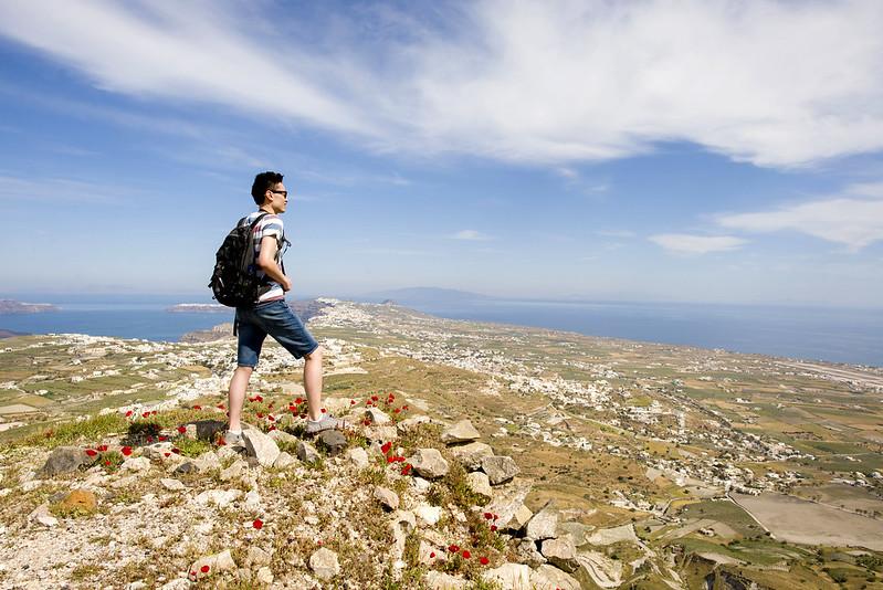 On top of Santorini Greece