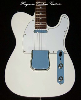 Haywire Custom Guitars White Tele All Rosewood neck 2+txt