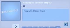 Holographic Billboard Stripe 2