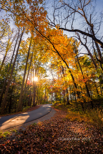 road park blue autumn trees sunset sky mountains fall nature field grass rural landscape outdoors countryside vanishingpoint nationalpark afternoon seasons unitedstates cove tennessee scenic sunny national pasture rays smokies townsend cadescove cades greatsmokymountainsnationalpark