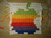 Crochet Apple logo 2 - rows