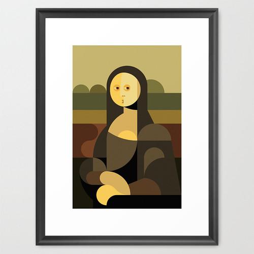 mona lisa, cubist