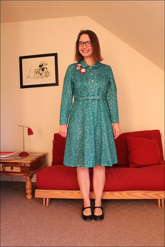 turquoise vintage dress