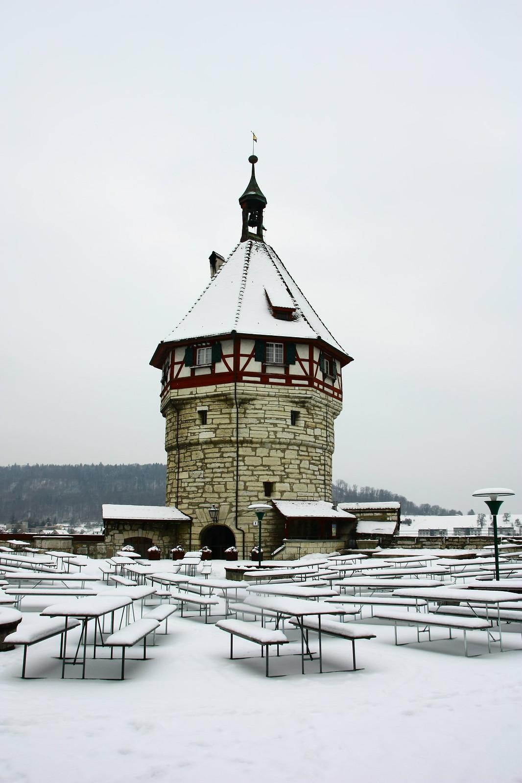 Castillo de Munot nevado