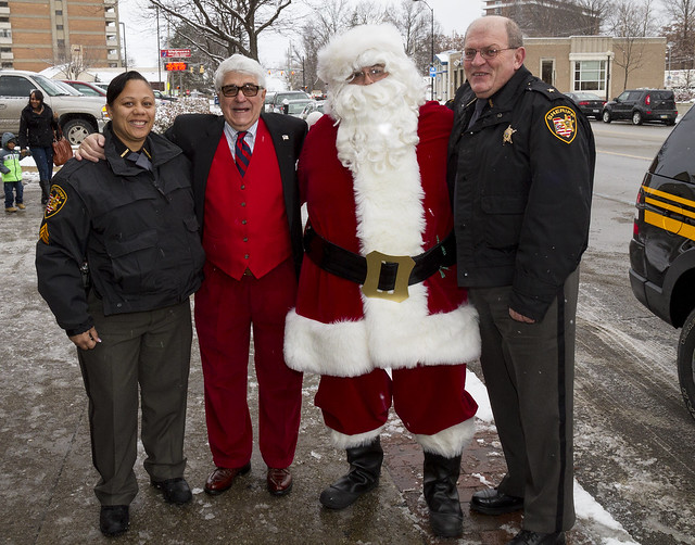 Frank, Santa and Sheriff Barry