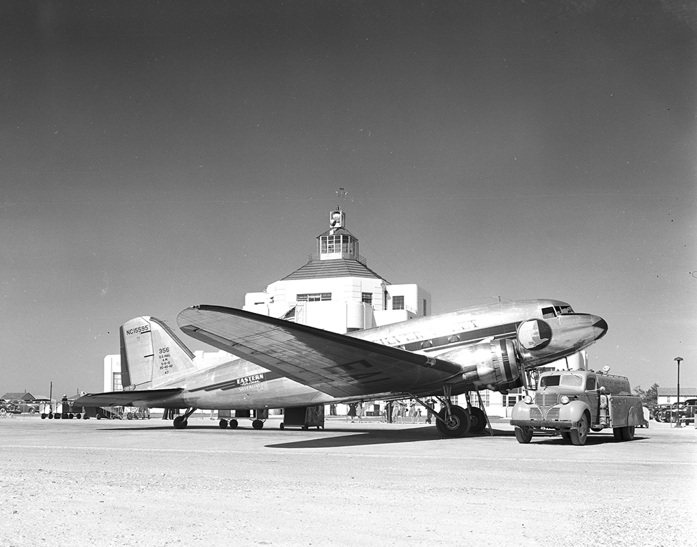 [DC-3 Aircraft at Houston Municipal Airport, Eastern Airlines]