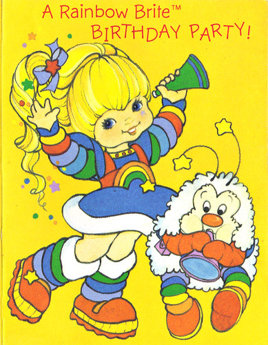 "Hallmark Cards :: ""A Rainbow Brite BIRTHDAY PARTY!"" ii (( 1986 ))"
