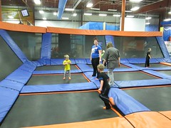 trampolining--equipment and supplies, sports, room, trampolining,