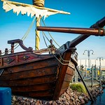 Miniature golf @ Barry island pirate ship