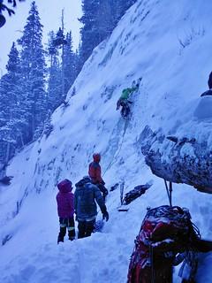 Doug Leading an Ice Climb