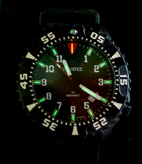 Tawatec Tritium illuminated watch