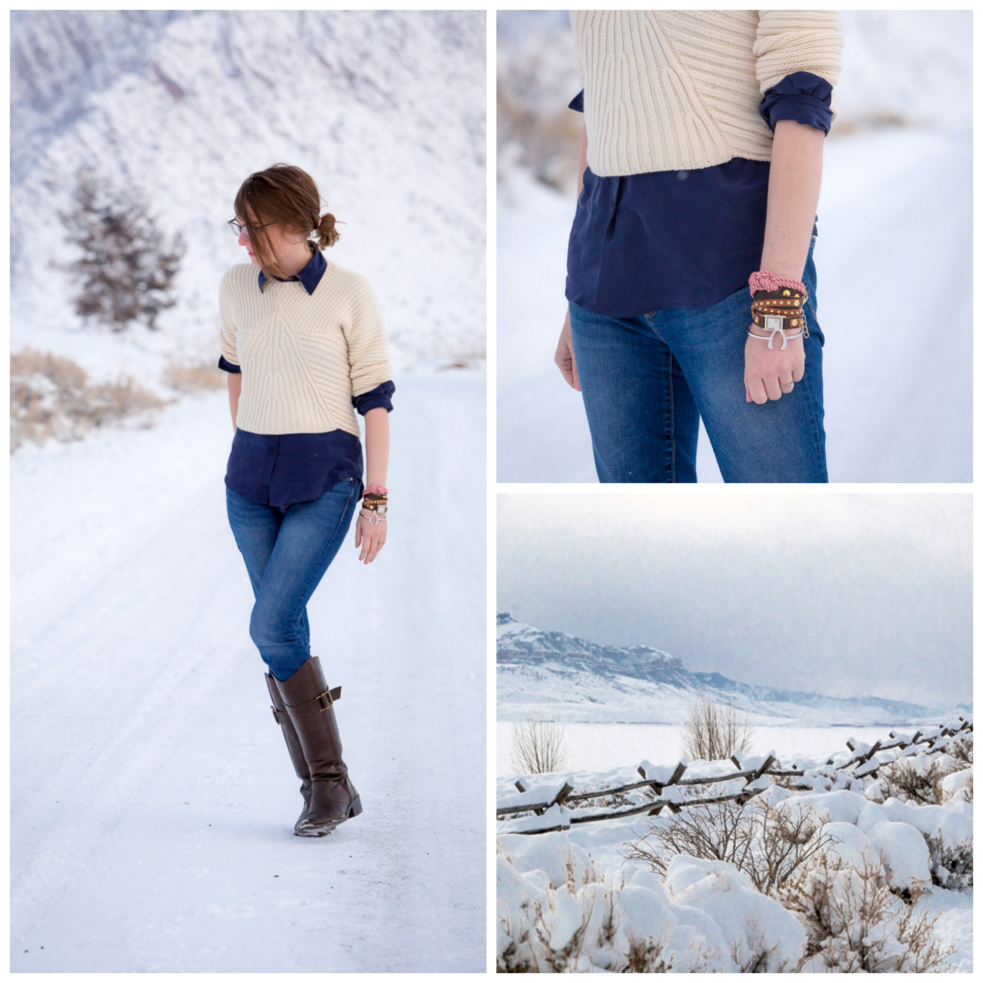 winter outfit, wyoming, Tomboy, snow, never fully dressed, withoutastyle, sweater, layers, popbasic shirt,