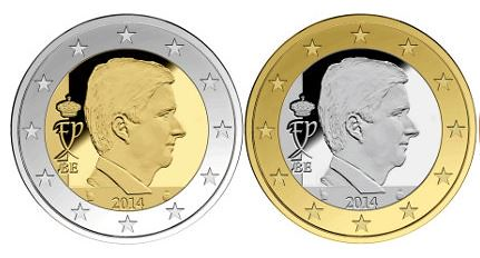 2014 Belgium coin design