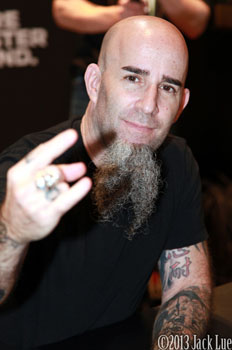 Scott Ian @ NAMM 2013- Photo by Jack Lue