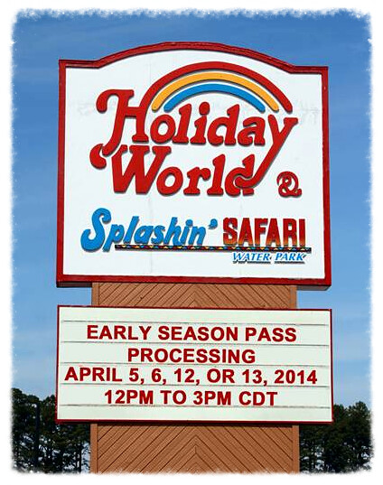 Early Season Pass processing at Holiday World