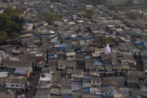 Landing in Bombay... over the slums