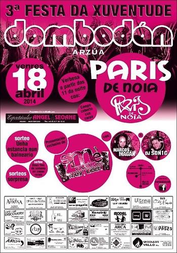 Arzúa 2014 - III Festa da Xuventude en Dombodán - cartel