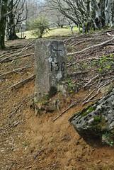 Frontière franco-espagnole au Pays Basque,borne 136.