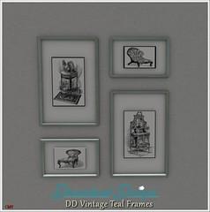 DD Vintage Teal Frames Vendor
