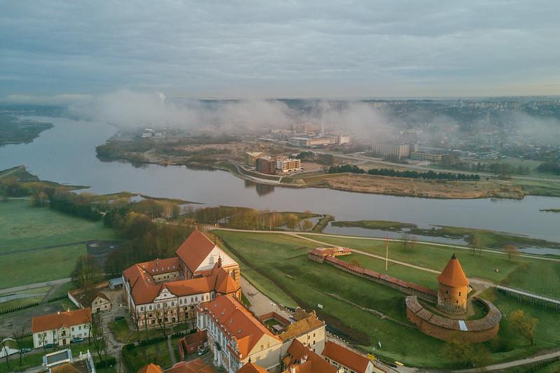 Spring Morning Fog | Kaunas Aerial