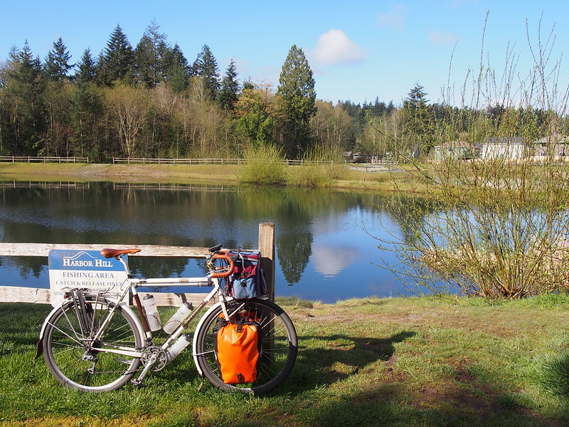 Gig Harbor YMCA Pond/Park: This is the shortcut from Borgen Boulevard to the Cushman Powerline Trail.