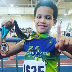 Congratulations to my nephew. Gold in #highjump and hit the podium in #longjump at the #aau indoor track and field tournament this year. I love you #jetflashfitness #fun #family