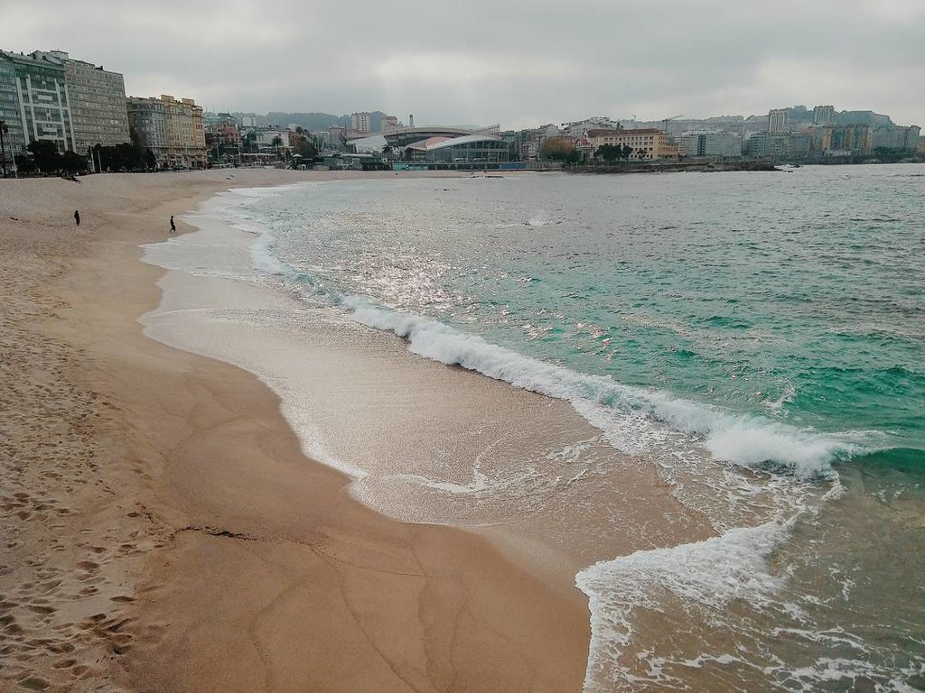 Riazor beach in a cloudy day. #Coruña #cloudy #photography #vsco