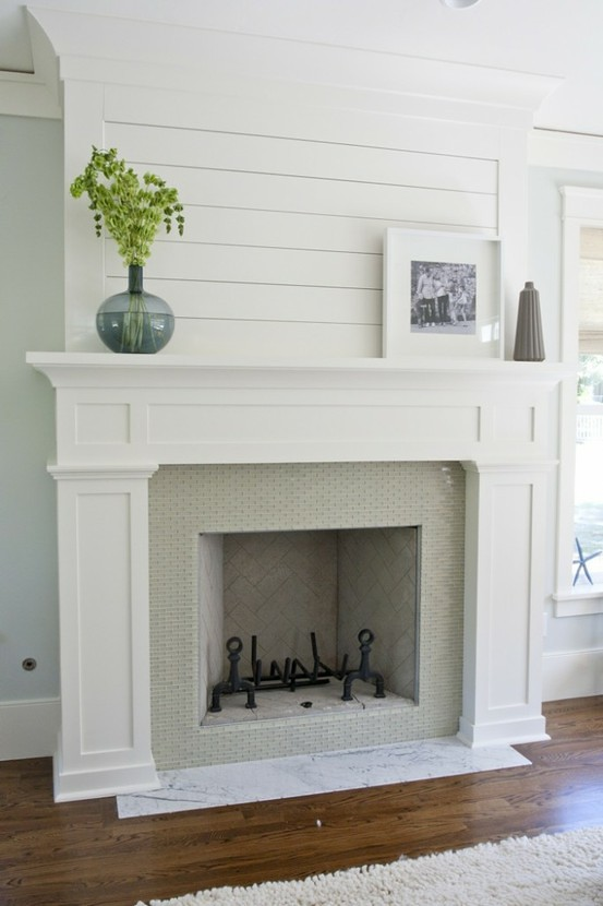 Very A Custom DIY Fireplace Mantel Beneath Our Shiplap - Old Town Home FH73