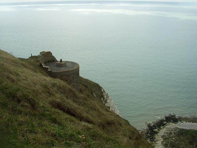 Old World War II gun emplacement