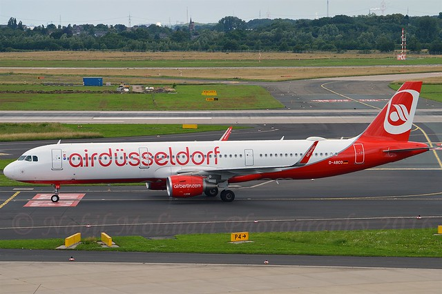 Air Berlin D-ABCO Airbus A321-211 Sharklets cn/6501 Painted in