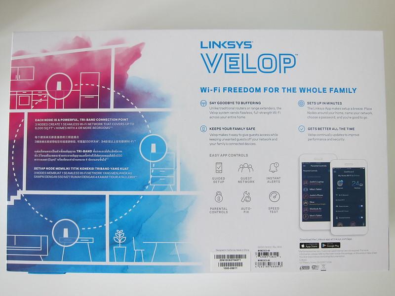 Linksys Velop - Box Back