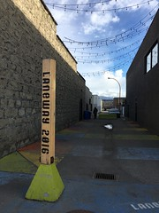 Laneway activation in Downtown Kelowna