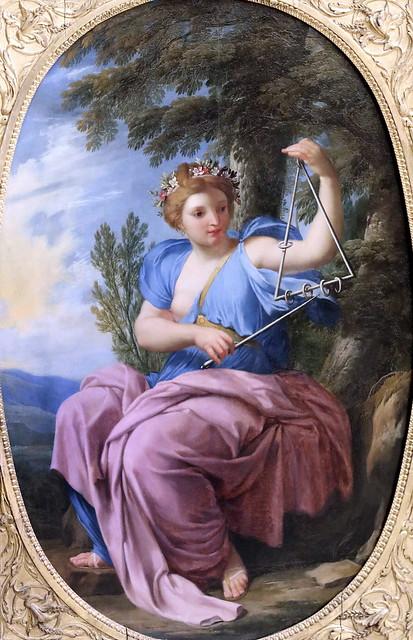 IMG_6467CA Eustache Lesueur. 1616-1655. Paris La muse Terpsichore. (Danse). The muse Terpsichore. (Dance)  vers 1655.  Louvre.