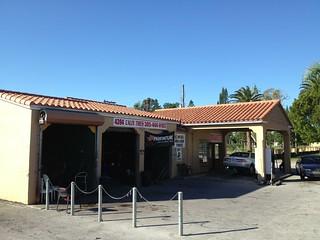 Vintage Gas Station Calle Ocho Miami 1936