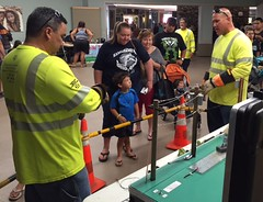 Hawaii Electric Light at North Hawaii Community Hospital's Healthy Keiki Fest - April 22, 2017: Demonstration with our linemen