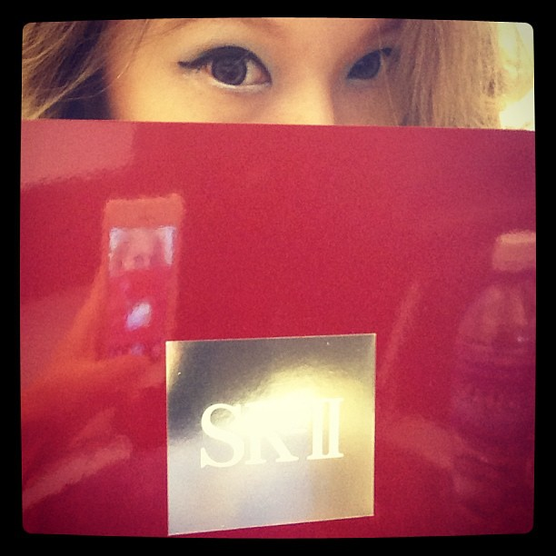 Pee-ka-boo. I wanna have pretty skin! #skii #sk2 #skincare